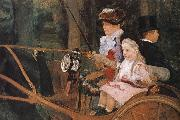 Mary Cassatt The woman and the child are driving the carriage oil painting picture wholesale