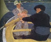 Mary Cassatt Floating boat oil painting picture wholesale
