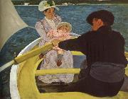 Mary Cassatt Float boat oil painting picture wholesale