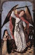 Master of the Saint Ursula Legend St Michael Fighting Demons oil painting picture wholesale
