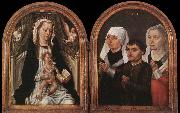 Master of the Saint Ursula Legend Diptych with the Virgin and Child and Three Donors oil painting picture wholesale
