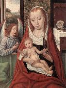 Master of the Saint Ursula Legend Virgin and Child with an Angel oil painting picture wholesale