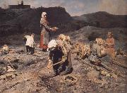 Nikolai Kasatkin Poor People Collecting Coal in an Abandoned Pit oil painting picture wholesale