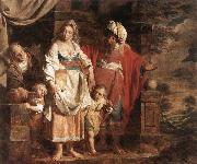 VERHAGHEN, Pieter Jozef Hagar and Ishmael Banished by Abraham oil painting artist