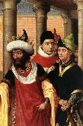 WEYDEN, Rogier van der Group of Men Spain oil painting artist