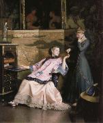William McGregor Paxton The new necklace oil painting picture wholesale