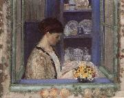 frederick carl frieseke Mis.Frederick in front of the window oil painting picture wholesale