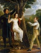 unknow artist Major Mauritz Clairfelt with sons and daughter in sway oil painting picture wholesale