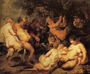 unknow artist Bacchanal oil painting reproduction
