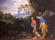Adam Elsheimer Tobias and arkeangeln Rafael atervander with the fish oil painting artist