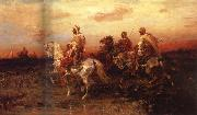 Adolf Schreyer Arab Horsemen on the March oil painting artist