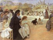 Albert Edelfelt In the Luxembourg Garden oil painting picture wholesale