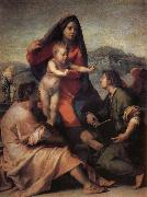 Andrea del Sarto Holy famil and angel oil painting picture wholesale