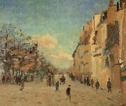 Armand guillaumin Quai de la Gare,Snow oil painting reproduction