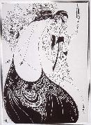 Aubrey Beardsley The Peacock Sirt oil painting artist