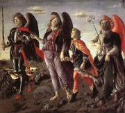 BOTTICINI, Francesco The Tree Archaangels and Tobias oil