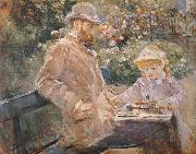 Berthe Morisot Manet and his daughter oil painting picture wholesale