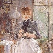 Berthe Morisot At the restaurant oil painting picture wholesale