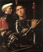 CAVAZZOLA Warrior with Equerry oil painting artist