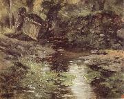 Carlos de Haes A Stream at Pont-Aven oil painting