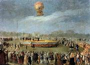 Carnicero, Antonio Ascent of the Balloon in the Presence of Charles IV and his Court oil painting artist