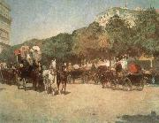 Childe Hassam Grand Prix Day oil painting reproduction