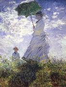 Claude Monet A woman with a parasol oil painting picture wholesale