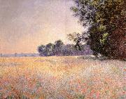 Claude Monet Oat and Poppy Field oil painting reproduction