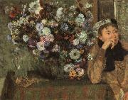Edgar Degas Woman with Chysanthemums oil painting picture wholesale