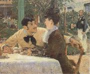Edouard Manet In the Garden Restaurant of Pere Lathuille oil painting picture wholesale
