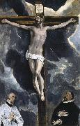 El Greco The Crucifixion with two donors oil painting picture wholesale