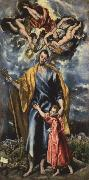 El Greco St Joseph and the Infant Christ oil painting picture wholesale