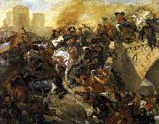Eugene Delacroix The Battle of Taillebourg oil painting picture wholesale
