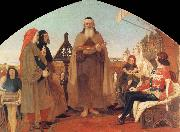 Ford Madox Brown Wycliffe Reading his translation of the Bible to John of Gaunt oil painting picture wholesale