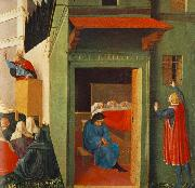 Fra Angelico Giving Dowry to Three Poor Girls oil painting reproduction