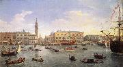 Gaspar Van Wittel The Molo Seen from the Bacino di San Marco 1697 oil painting artist