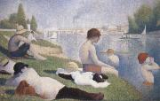 Georges Seurat Bathers at Asnieres oil painting picture wholesale