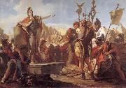 Giovanni Battista Tiepolo Queen Zenobia talk to their soldiers oil painting picture wholesale