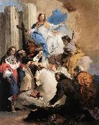 Giovanni Battista Tiepolo The Virgin with Six Saints oil painting picture wholesale