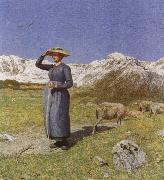 Giovanni Segantini Midday in the Alps oil painting picture wholesale