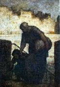 Honore  Daumier Laundress on the Quai d'Anjou oil painting picture wholesale