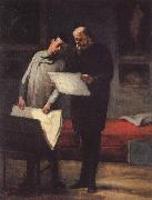 Honore Daumier Rows of a young konstnar oil painting picture wholesale