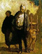 Honore Daumier Wandering Saltimbanques oil painting picture wholesale