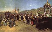 Ilya Repin Religious Procession in the Province of Kursk oil painting picture wholesale