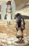 James Tissot Hagar and the Angel in the Desert oil painting picture wholesale