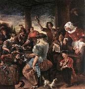 Jan Steen A Merry Party oil painting picture wholesale