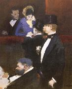 Jean-Louis Forain A Box at the Opea oil painting picture wholesale
