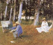 John Singer Sargent Claude Monet Painting at the Edge of a wood oil painting picture wholesale