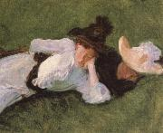 John Singer Sargent Two Girls on a Lawn oil painting picture wholesale
