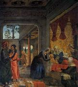 Juan de Borgona The Birth of the Virgin oil painting artist